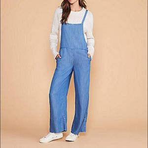 Lou and grey chambray overalls